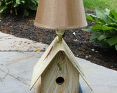 Bookish Bird Abode Lamp - Birds Will Come To You/Father Goose