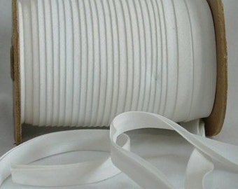"""10yd  White 1/2"""" Double Fold Bias Tape Superior Quality Fabric Trim Poly/Cotton"""