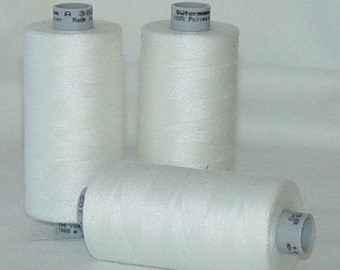 GUTERMANN Mara 100 Polyester Thread ONE (1) Spool 1,094yd WHITE 800