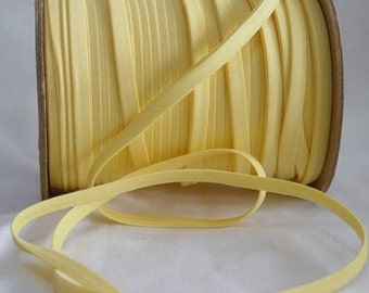 """10yd Yellow 1/2"""" Double Fold Bias Tape Superior Quality Fabric Trim Poly/Cotton"""