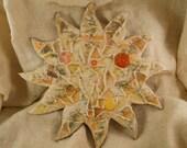 Yellow and Orange Mosaic Sun CUSTOM COLORS AVAILABLE