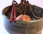 "Handmade Ceramic Pacific Octopus Bowl - Medium Size Serving Bowl or Large Yarn Bowl - 4""x.7.25"""