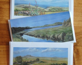 Landscape Greetings Card Collection - 8 x 4 (21 x 10 cm) - Cornish Landscapes