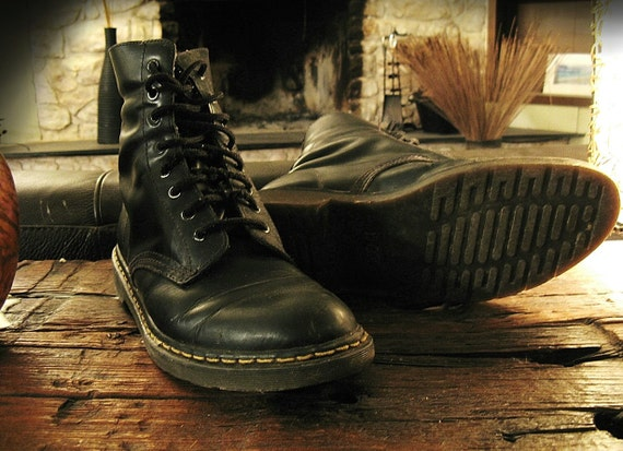 items similar to vintage doc martin boots black dox