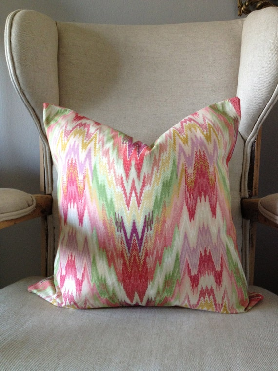 """Reserved Listing reserved listing for Emory Callegari - 2 Bright & Bold Zig Zag Chevron Pillow Cover - 18-20"""""""