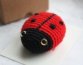 PATTERN - Amigurumi Ladybug Crochet Pdf Tutorial- Digital Download - In English