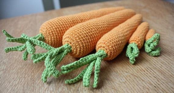 Amigurumi Crochet Food Patterns : Amigurumi Carrot Pattern carrots in 5 sizes Pretend Food