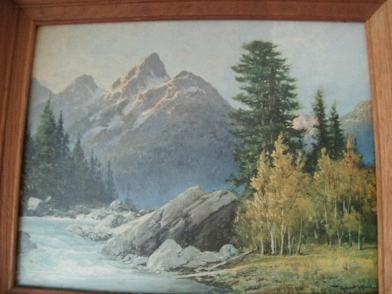 American Mountain Scene By Robert W Wood By Highlycollectable