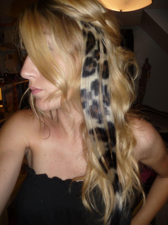 Cheetah Print Hair Extensions Remy Indian Hair