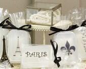 French Paris images FIVE glycerin soap bar set