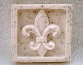 Fleur-de-lis French shaped soap