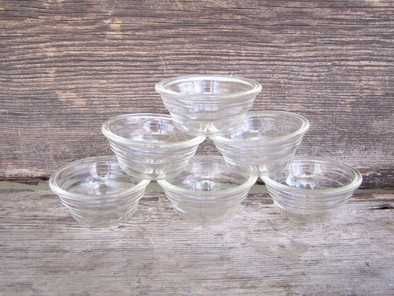 Cyber Monday SaleSALE Mid-century custard dishes-collection of 6-vintage baking dishesSALE