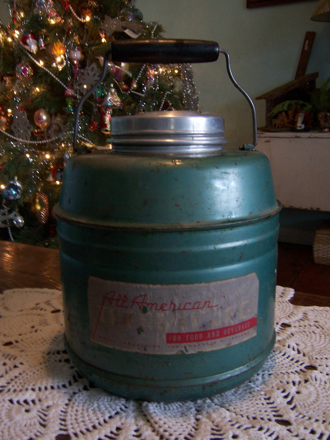 1950s Thermic Thermos Antique Ceramic Lined