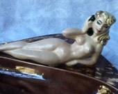 Ashtray Ceramic Nude Woman with Telephone   1950s