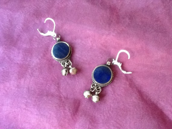 Earrings Lapis and Silver