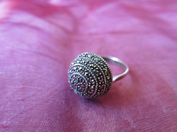 Ring Silver Domed Size 7