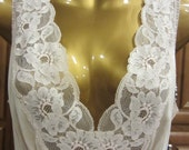 1 Vintage NIGHTGOWN 1970s Champagne Lace Nightgown Negligee