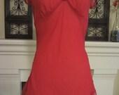 Vintage Nighty Hot Valentine Red Short Sexy Nightgown