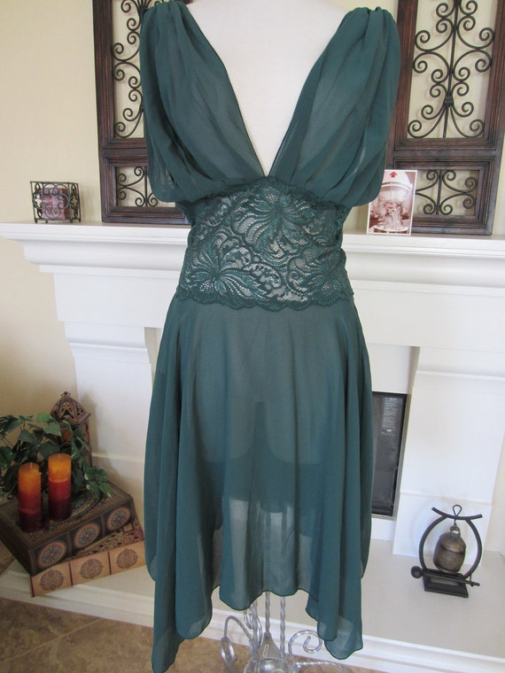 Christmas Green Victoria Secret Intimate Dress Negligee