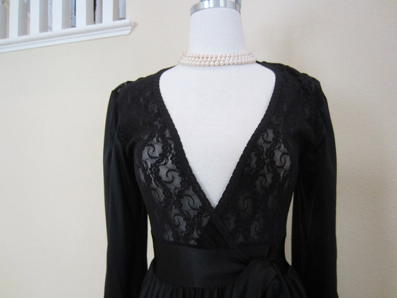 Black Dressing Gown Robe Peignoir