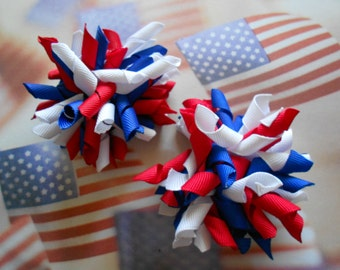 Patriotic/labor day/ memorial day/ 4th of July / red white blue mini korker set