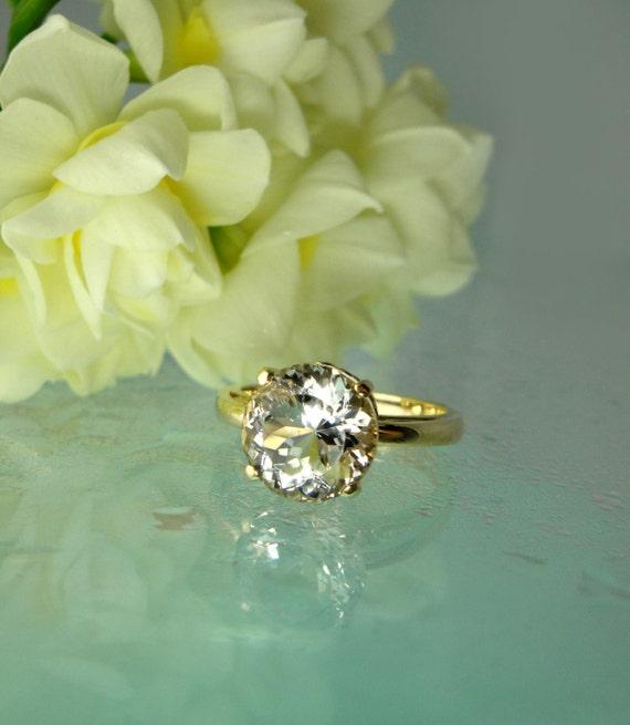Alternative to Diamond Engagement Ring, Diamond Alternative, Promise Ring, Conflict Free Gemstone, Herkimer Diamond, 14k Gold Ring,