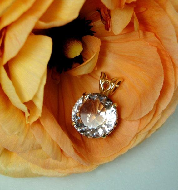 Reserved Final Payment Listing for Jen  Herkimer Diamond 14K White Gold Pendant
