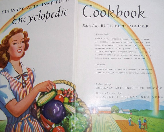 Vintage 1950 Culinary Arts Institute of Chicago Cookbook