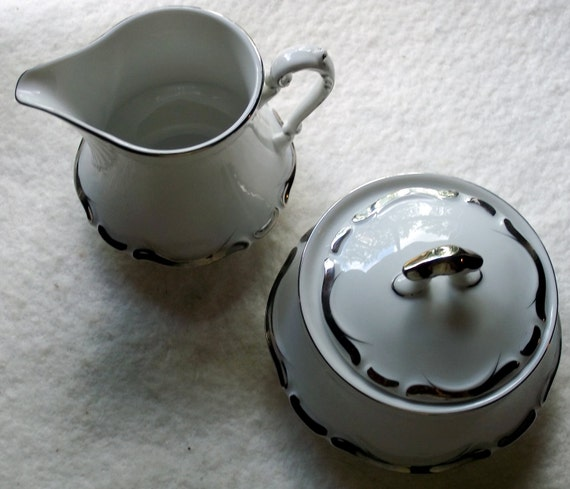 Vintage Starlight Cream and Sugar by Harmony House