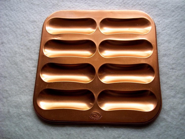 Vintage Anodized Aluminum Lady Finger Baking Pan