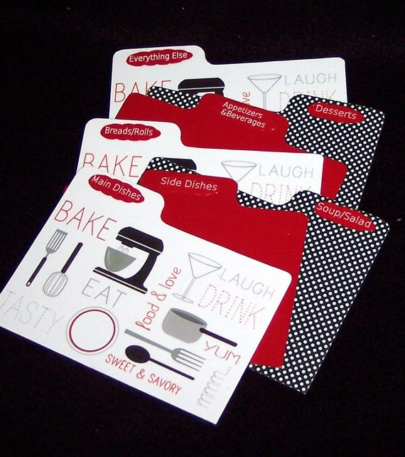 Dividers for Kitchen Gadget  Recipe Box