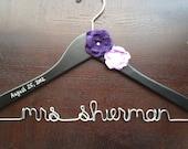 Custom Personalized Bridal Dress Hanger, Wedding Dress Hanger, Wedding Date Inscribed, Engagement Gift, Bridal Hanger, Gift for Bride