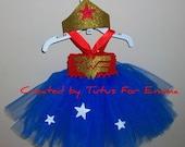 Wonder Woman inspired Tutu DRESS with HEADBAND