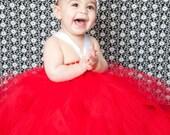 RED Tutu Dress, Infant toddler Birthday Portaits Infant Toddler