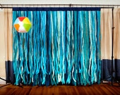 Shades of  Blue Fabric Photo Booth Backdrop
