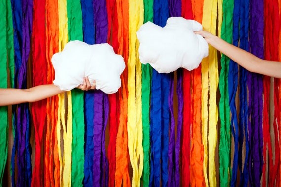 Rainbow Fabric Photo Booth Backdrop