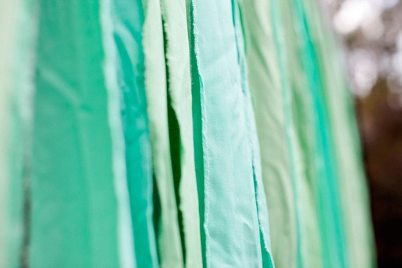 READY TO SHIP: Shades of  Blue-Green Fabric Photo Booth Backdrop
