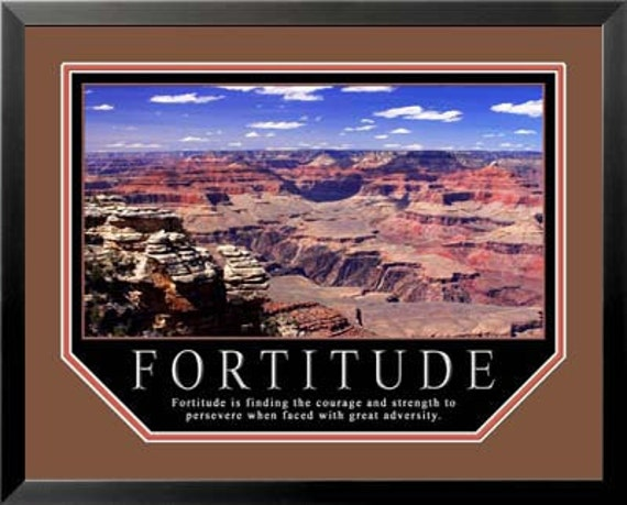Motivational Posters Framed on Motivational Poster Fortitude 11x14 Framed By Wallsthatinspire