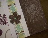 Adorable Flower Rhinestone Card