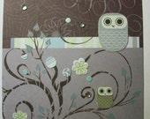 Cute Little Owls, Sittin' in a Tree Card