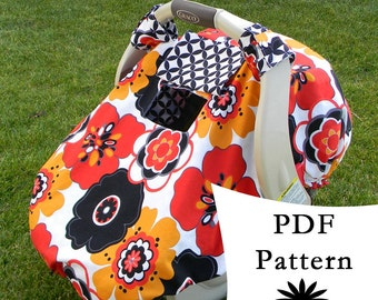 Fitted Car Seat Canopy with Peek-a-Boo Window PDF PATTERN/ & Sale Fitted Car Seat Canopy with Peek-a-Boo Window PDF