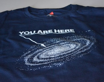 Outer Space Shirt - Funny Shirts for Men - Gift for Him You Are Here Space T-Shirt
