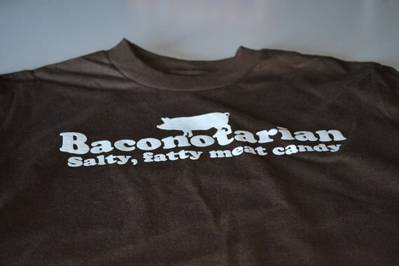 YOUTH Baconotarian funny bacon lover tshirt kids boys girls childs geekery t shirt brown cotton geek shirt gift for son daughter children