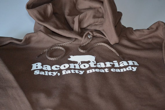 Bacon Hoodie for Men Teens Bacontarian Bacon Lover Hooded Sweatshirt Funny Bacon Hoodies Birthday Gift for Him