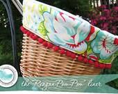 "The ""Reagan Pom-Pom"" Bicycle Basket Liner"