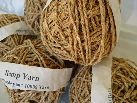 Three ply Hemp Yarn, by the ball.