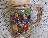 ADDITIONAL 10% OFF...SALE  Napcoware Small Stein Mint Condition Building and People