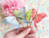 Spring Pastel Butterfly Hair Pin. Whimsical Butterfly Hair Pin, Woodland Hair Pin, Hair Accessories. Fashion. Romantic. Summer. Boho Look.
