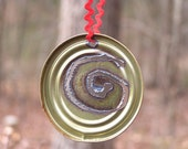 Reclaimed Rustic Metal Spiral Ornament Gift Tag Under 5