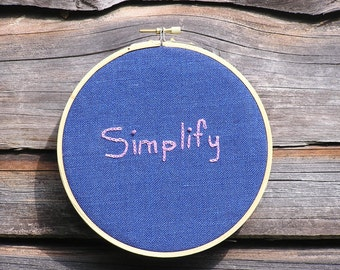 Simplify Embroidery gift under 20